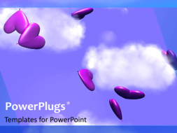 PowerPoint Template - Falling Hearts background
